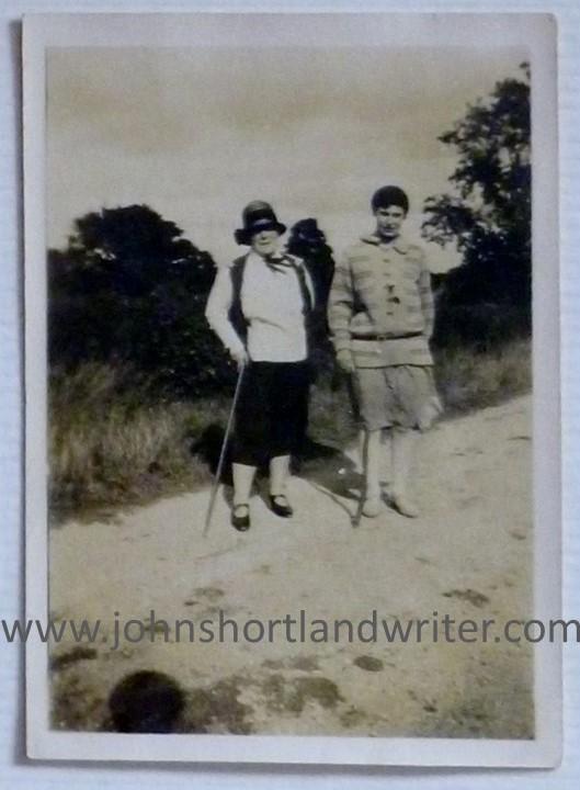 Frances White - auntie baba - and Clara Joyce Shortland watermark