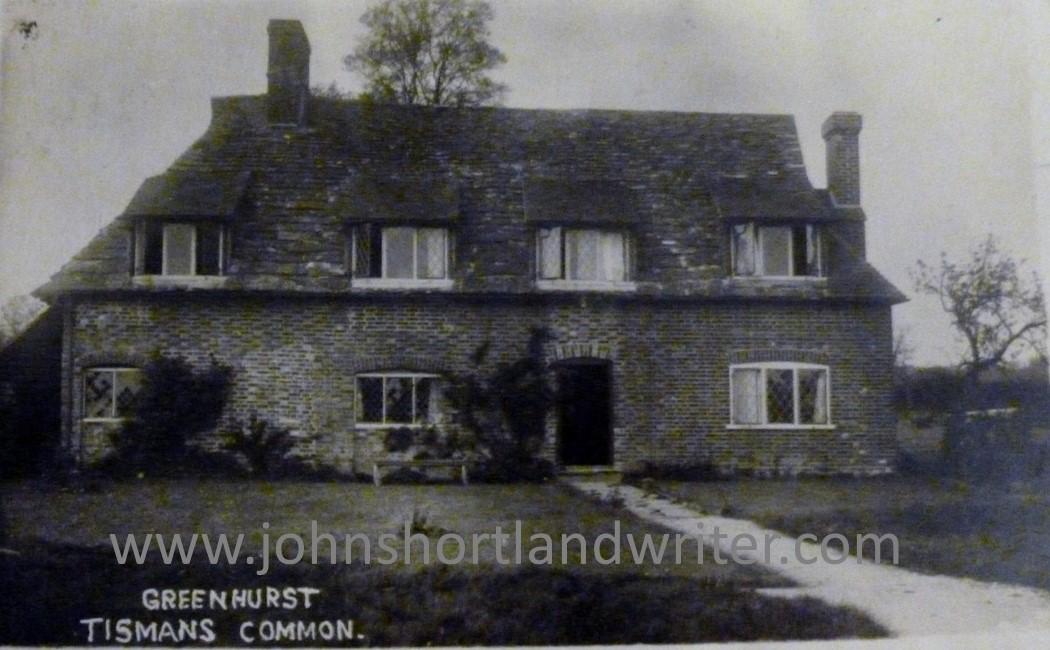 postcard of Greenhurst, nr Rudgwick watermark